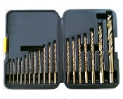 18 Pc Cobalt Drill Bit Set